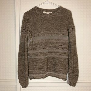 Inhabit Wool and Yak Blend Mixed Material Sweater